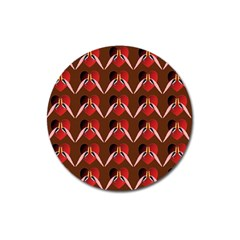Peacocks Bird Pattern Magnet 3  (round) by Simbadda