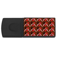 Peacocks Bird Pattern Usb Flash Drive Rectangular (4 Gb) by Simbadda