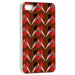 Peacocks Bird Pattern Apple Iphone 4/4s Seamless Case (white) by Simbadda
