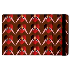 Peacocks Bird Pattern Apple Ipad 2 Flip Case by Simbadda