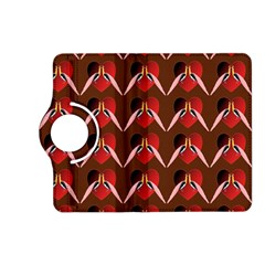 Peacocks Bird Pattern Kindle Fire Hd (2013) Flip 360 Case by Simbadda