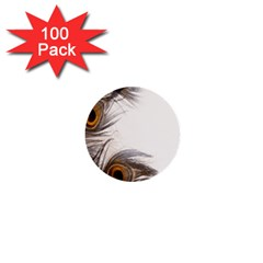 Peacock Feathery Background 1  Mini Buttons (100 Pack)  by Simbadda