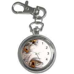 Peacock Feathery Background Key Chain Watches by Simbadda