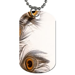 Peacock Feathery Background Dog Tag (two Sides) by Simbadda