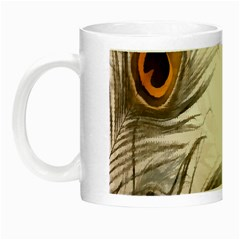 Peacock Feathery Background Night Luminous Mugs by Simbadda