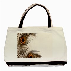 Peacock Feathery Background Basic Tote Bag by Simbadda