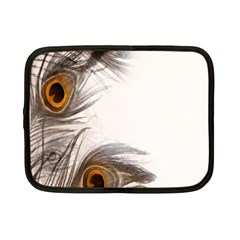 Peacock Feathery Background Netbook Case (small)  by Simbadda