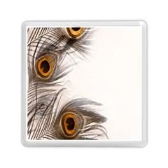 Peacock Feathery Background Memory Card Reader (square)  by Simbadda
