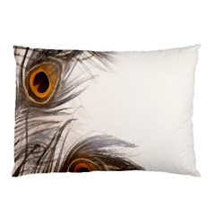 Peacock Feathery Background Pillow Case (two Sides) by Simbadda
