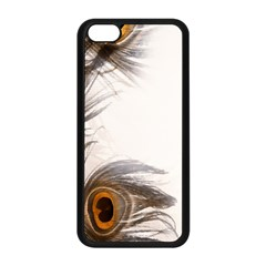 Peacock Feathery Background Apple Iphone 5c Seamless Case (black) by Simbadda