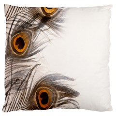 Peacock Feathery Background Standard Flano Cushion Case (two Sides) by Simbadda