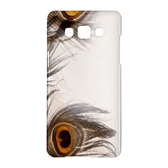 Peacock Feathery Background Samsung Galaxy A5 Hardshell Case  by Simbadda