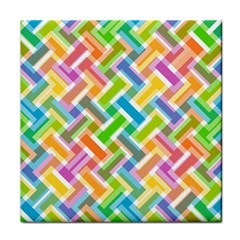 Abstract Pattern Colorful Wallpaper Tile Coasters by Simbadda