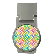 Abstract Pattern Colorful Wallpaper Money Clips (round)  by Simbadda