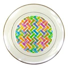 Abstract Pattern Colorful Wallpaper Porcelain Plates by Simbadda