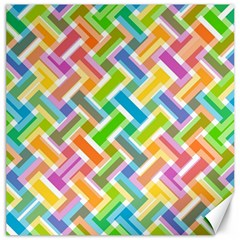 Abstract Pattern Colorful Wallpaper Canvas 16  X 16   by Simbadda