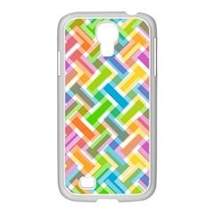 Abstract Pattern Colorful Wallpaper Samsung Galaxy S4 I9500/ I9505 Case (white) by Simbadda