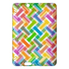 Abstract Pattern Colorful Wallpaper Kindle Fire Hdx Hardshell Case by Simbadda