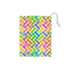 Abstract Pattern Colorful Wallpaper Drawstring Pouches (small)  by Simbadda