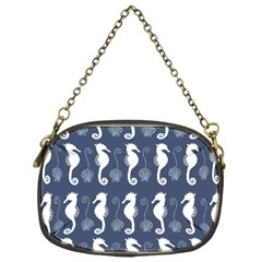 Seahorse And Shell Pattern Chain Purses (one Side)  by Simbadda
