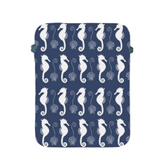 Seahorse And Shell Pattern Apple Ipad 2/3/4 Protective Soft Cases by Simbadda
