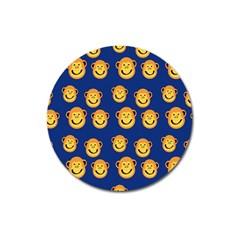 Monkeys Seamless Pattern Magnet 3  (round) by Simbadda