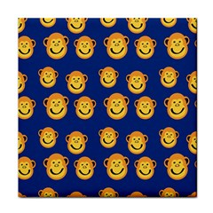 Monkeys Seamless Pattern Face Towel by Simbadda