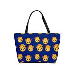 Monkeys Seamless Pattern Shoulder Handbags by Simbadda