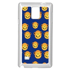 Monkeys Seamless Pattern Samsung Galaxy Note 4 Case (white) by Simbadda