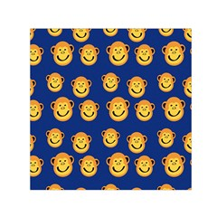 Monkeys Seamless Pattern Small Satin Scarf (square) by Simbadda