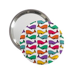 Small Rainbow Whales 2 25  Handbag Mirrors by Simbadda