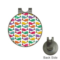 Small Rainbow Whales Hat Clips With Golf Markers by Simbadda