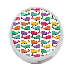 Small Rainbow Whales 4 Port Usb Hub (one Side) by Simbadda