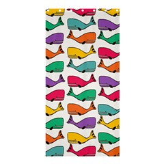 Small Rainbow Whales Shower Curtain 36  X 72  (stall)  by Simbadda