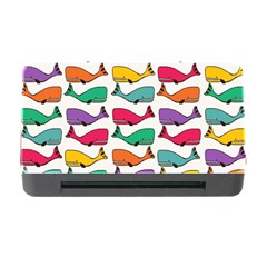 Small Rainbow Whales Memory Card Reader With Cf by Simbadda