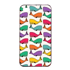 Small Rainbow Whales Apple Iphone 4/4s Seamless Case (black) by Simbadda