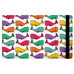 Small Rainbow Whales Apple Ipad 2 Flip Case by Simbadda