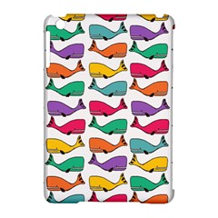 Small Rainbow Whales Apple Ipad Mini Hardshell Case (compatible With Smart Cover) by Simbadda