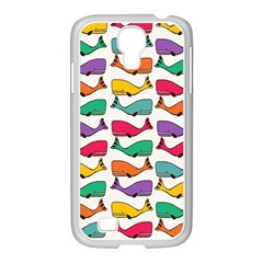 Small Rainbow Whales Samsung Galaxy S4 I9500/ I9505 Case (white) by Simbadda