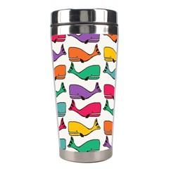 Small Rainbow Whales Stainless Steel Travel Tumblers by Simbadda