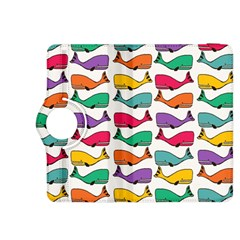 Small Rainbow Whales Kindle Fire Hdx 8 9  Flip 360 Case by Simbadda