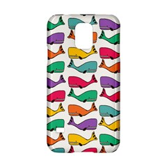 Small Rainbow Whales Samsung Galaxy S5 Hardshell Case  by Simbadda