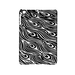 Digitally Created Peacock Feather Pattern In Black And White Ipad Mini 2 Hardshell Cases by Simbadda
