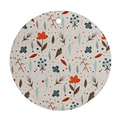 Seamless Floral Patterns  Ornament (round) by TastefulDesigns