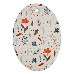 Seamless Floral Patterns  Ornament (oval) by TastefulDesigns