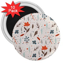Seamless Floral Patterns  3  Magnets (10 Pack)  by TastefulDesigns