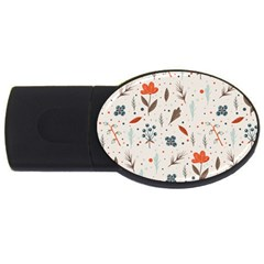 Seamless Floral Patterns  Usb Flash Drive Oval (2 Gb) by TastefulDesigns