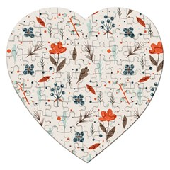 Seamless Floral Patterns  Jigsaw Puzzle (heart) by TastefulDesigns