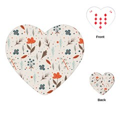 Seamless Floral Patterns  Playing Cards (heart)  by TastefulDesigns
