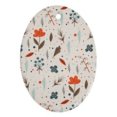 Seamless Floral Patterns  Oval Ornament (two Sides) by TastefulDesigns
